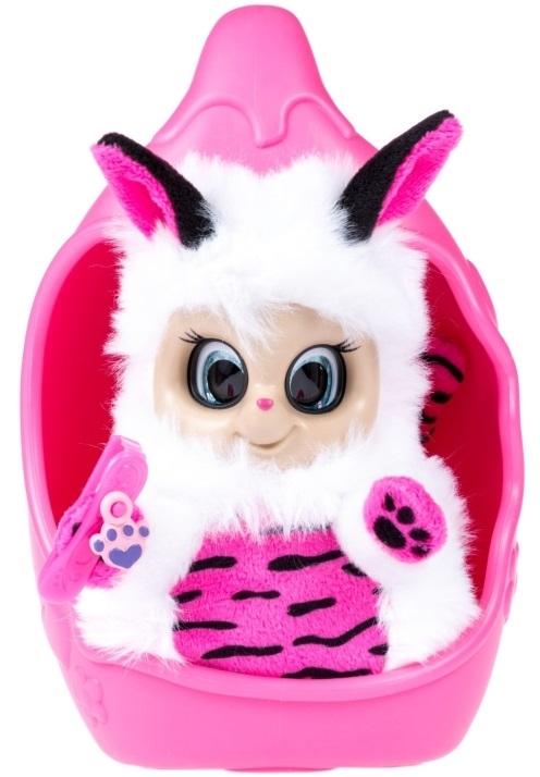 Мягкая игрушка из серии Bush baby world – Тигренок Тилли, 20 см, шевелит ушками, вращает глазками, со спальным коконом, заколкой и шармом
