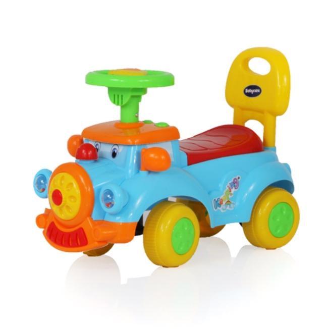 Детская синяя машина-каталка Keeping, звуковые эффектыМашинки-каталки для детей<br>Детская синяя машина-каталка Keeping, звуковые эффекты<br>