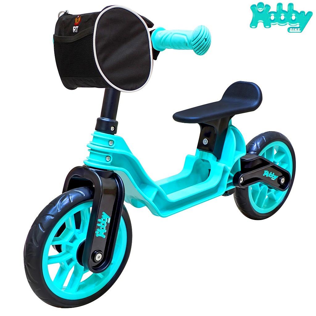 Беговел ОР503 Hobby bike Magestic, цвет - aqua blackБеговелы<br>Беговел ОР503 Hobby bike Magestic, цвет - aqua black<br>