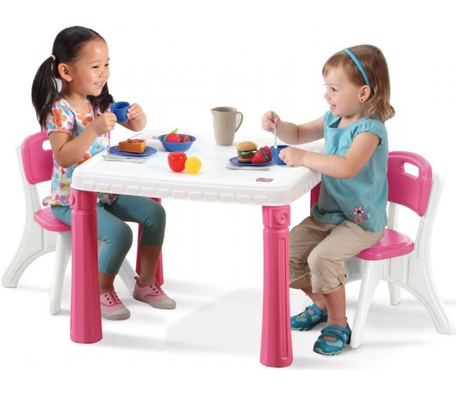 Step 2 Столик со стульями, розовый