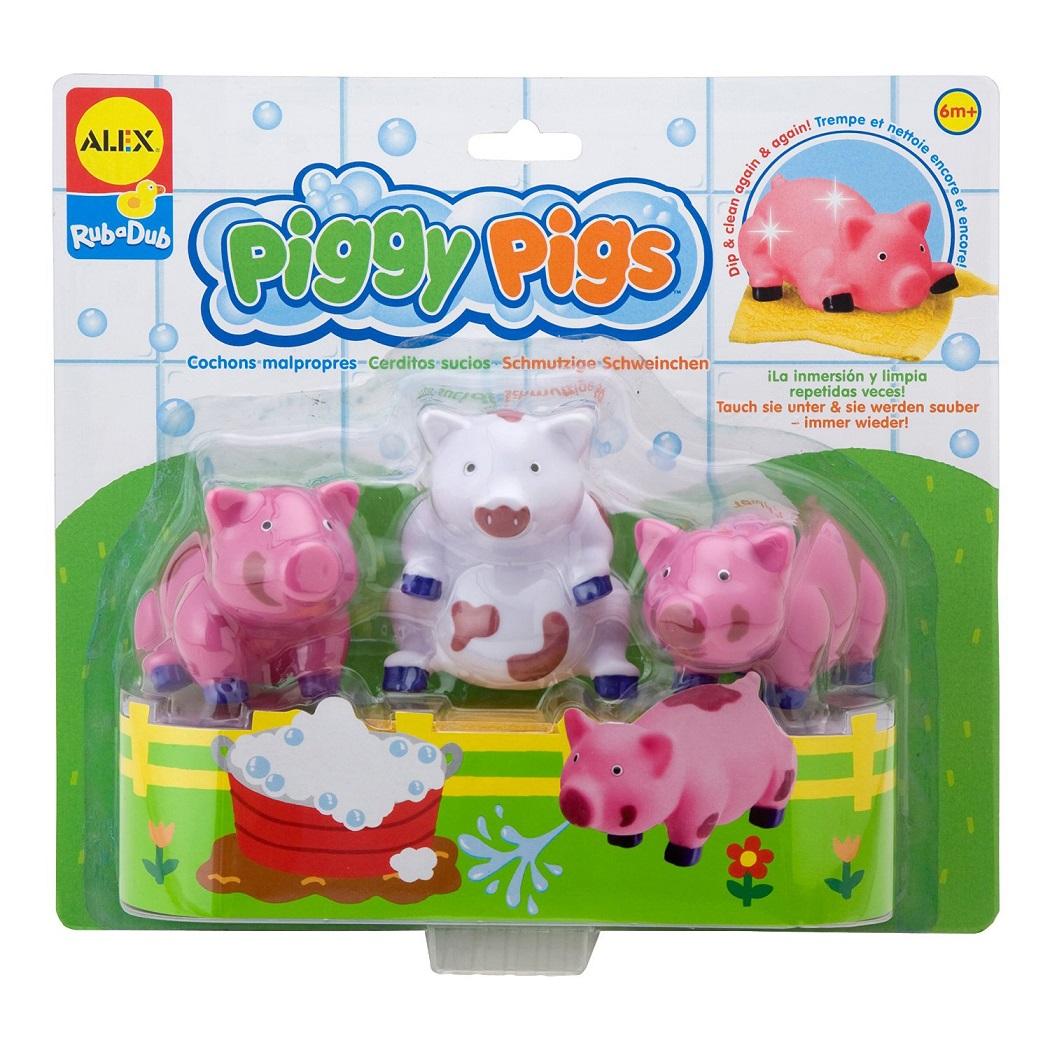 Набор игрушек для ванны - Вымой поросенка, меняют цвет, от 6 месяцевРезиновые игрушки<br>Набор игрушек для ванны - Вымой поросенка, меняют цвет, от 6 месяцев<br>