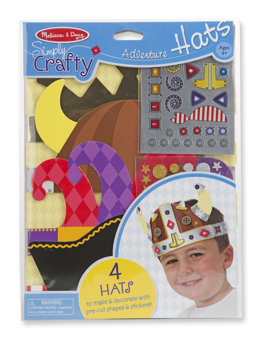 Купить Набор для создания головных уборов «Приключения шляпы», Melissa&Doug
