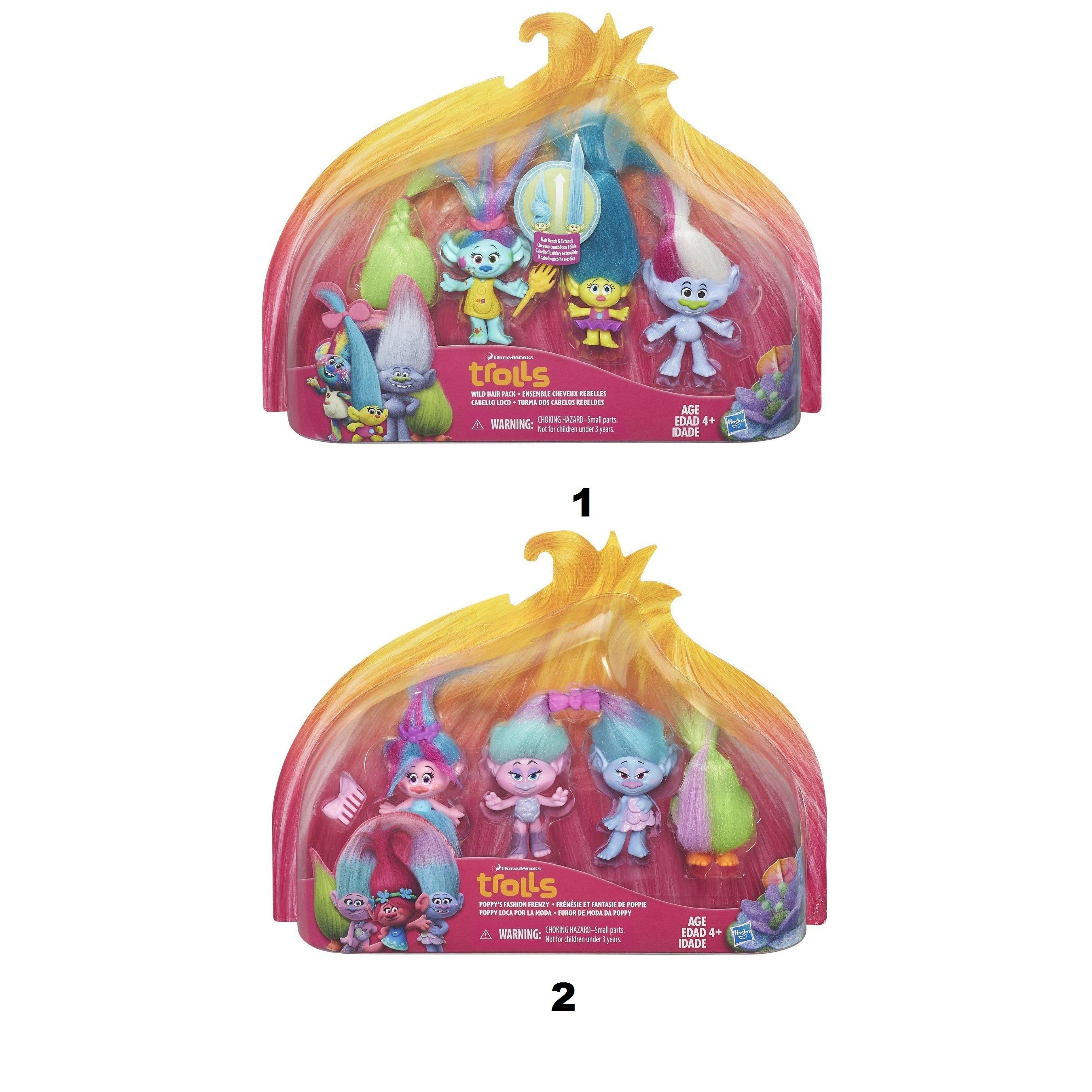 Игровой набор из 4 фигурок героев  Тролли - Тролли игрушки, артикул: 147337