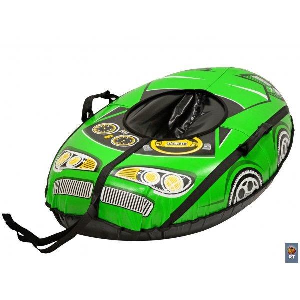 Купить Санки надувные, овальные – Тюбинг Машинка Best Racer, зеленая, RT