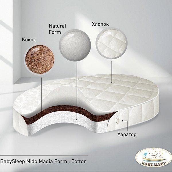 Детский матрас BabySleep - Nido Magia Form CottonМатрасы, одеяла, подушки<br>Детский матрас BabySleep - Nido Magia Form Cotton<br>