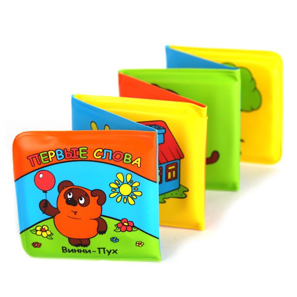 Книга-раскладушка для ванны Винни-Пух - Первые словаКнижки для ванной. Книжки с игрушками<br>Книга-раскладушка для ванны Винни-Пух - Первые слова<br>