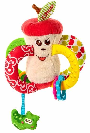 Игрушка-погремушка – Вкусное яблочкоДетские погремушки и подвесные игрушки на кроватку<br>Игрушка-погремушка – Вкусное яблочко<br>
