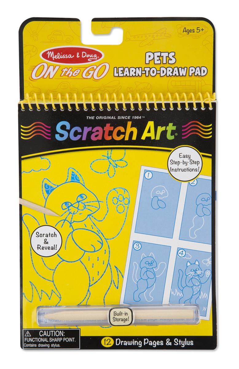 Набор для рисования «Scratch Art. Домашние животные»с различными эффектами<br>Набор для рисования «Scratch Art. Домашние животные»<br>