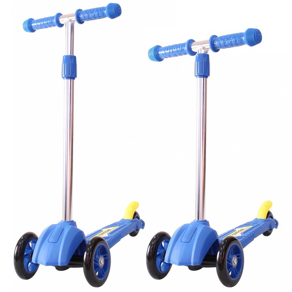Купить Детский трехколесный самокат синего цвета RT ORION MINI 164в2