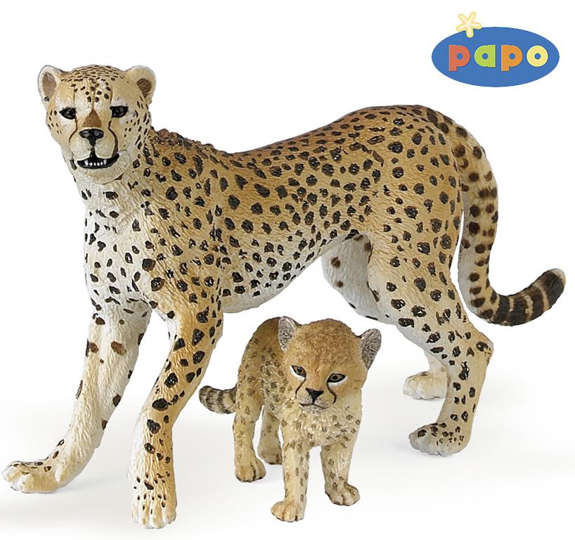 Гепард с детенышемДикая природа (Wildlife)<br>Гепард с детенышем<br>