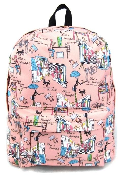 Рюкзак с 1 карманом – Модница, розовый - Детские рюкзаки, артикул: 169369