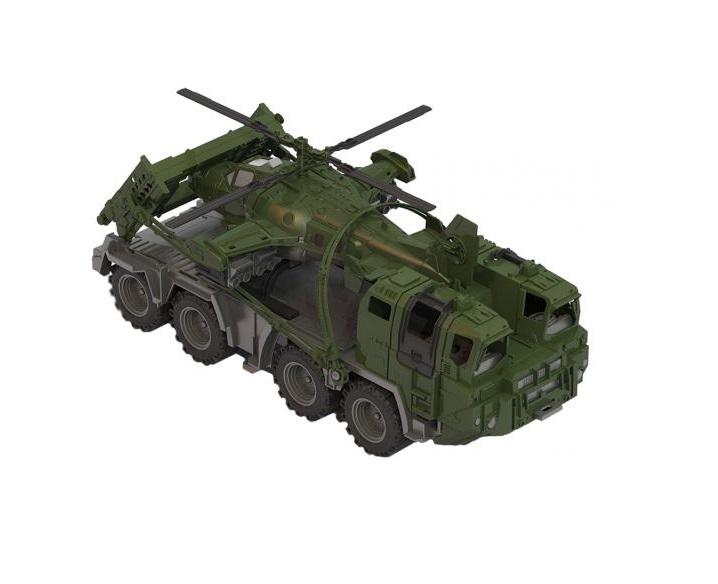 Военный тягач Щит с вертолетомВоенная техника<br>Военный тягач Щит с вертолетом<br>