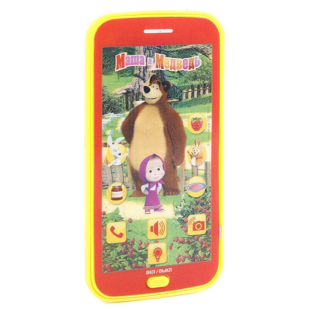 Купить Сенсорный телефон из серии Маша и Медведь, свет и звук, Умка