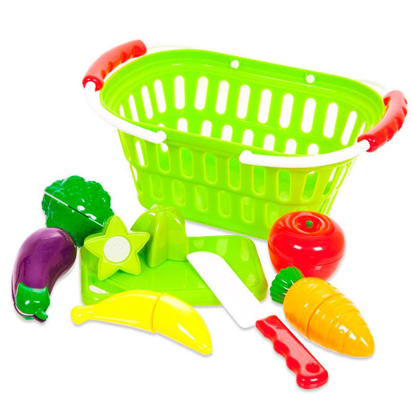 Помогаю Маме. Набор продуктов для резки на липучках, 15 предметовАксессуары и техника для детской кухни<br><br>