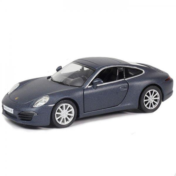 Металлическая инерционная машина RMZ City - Porsche 911 Carrera S, 1:32, темно-синий матовыйPorsche<br>Металлическая инерционная машина RMZ City - Porsche 911 Carrera S, 1:32, темно-синий матовый<br>