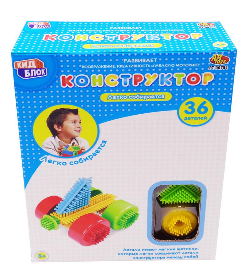 Купить Конструктор с щетинками из серии Кид Блок, 36 деталей, ABtoys