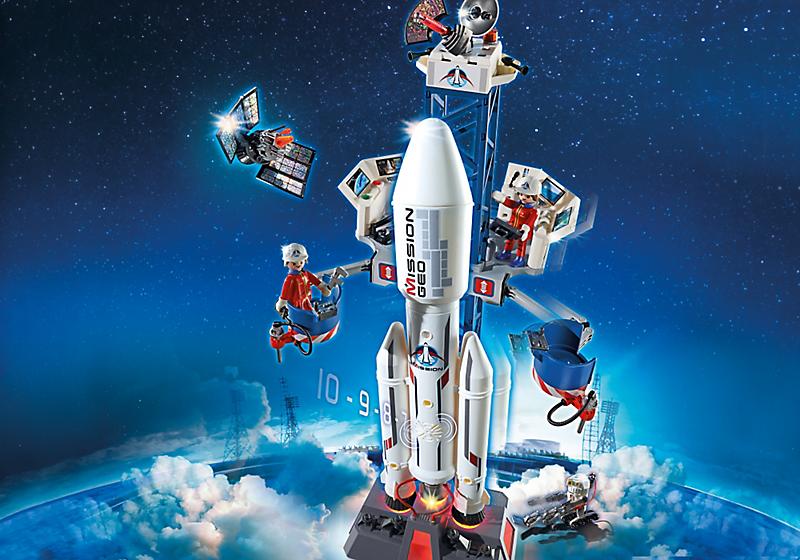 Игровой набор из серии «Космическая миссия»  Космическая ракета с базовой станцией - Конструкторы Playmobil, артикул: 134659