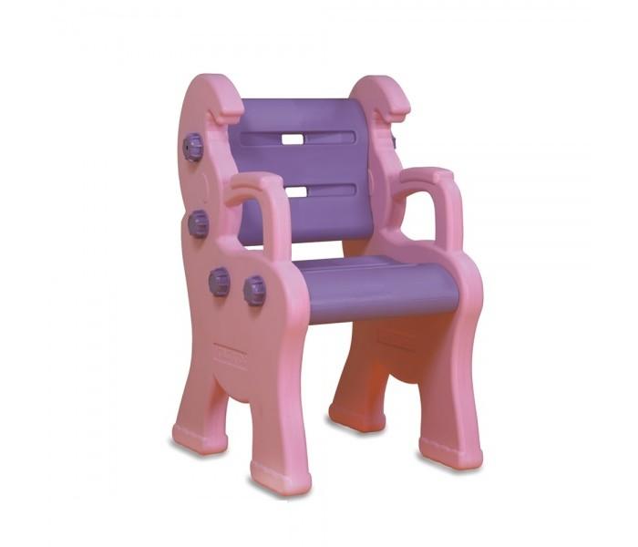 Купить Детский пластиковый стул - Королевский, розовый, King Kids