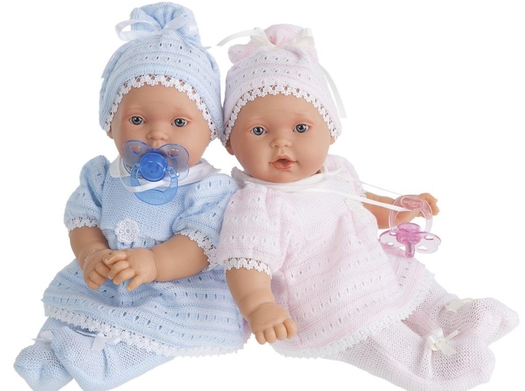 Кукла - младенец Лана в голубом, умеет плакать, 27 см. от Toyway
