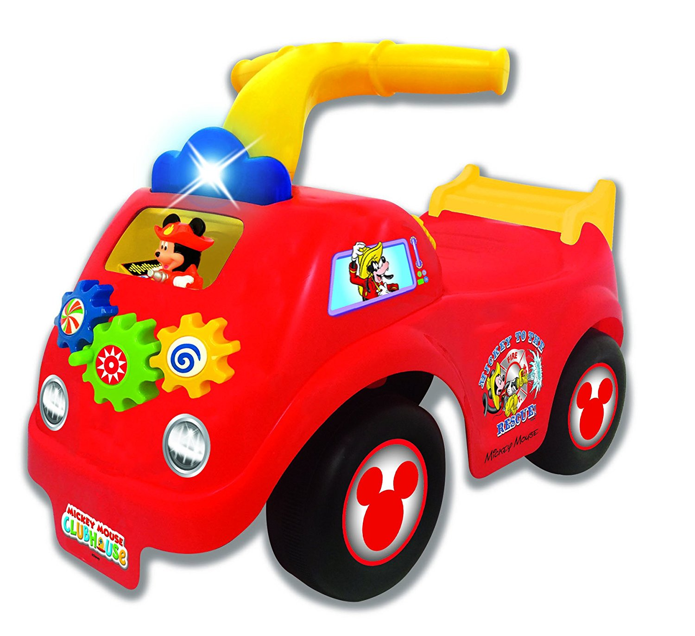 Каталка - пушкар - Пожарная машина Микки МаусаМашинки-каталки для детей<br>Каталка - пушкар - Пожарная машина Микки Мауса<br>