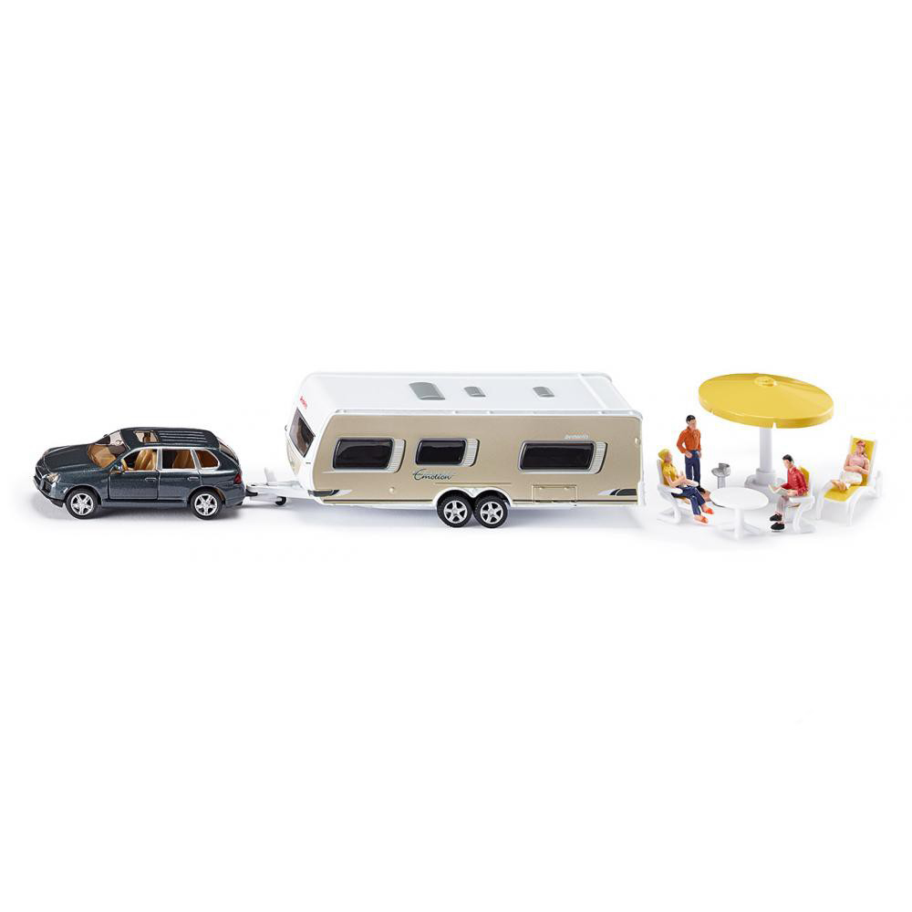 Купить Игровой набор - Машина с домом на колесах и аксессуарами, 1:55, Siku