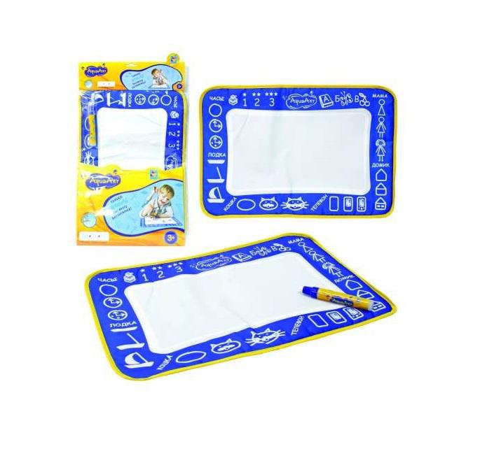 Купить Коврик для рисования с водным маркером AquaArt, моноцветный синий, 1TOY