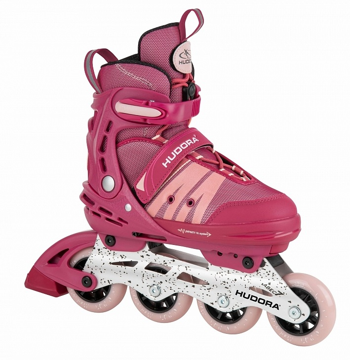 Ролики Inline Skates Comfort, цвет - strong berry, размер 35-40 фото
