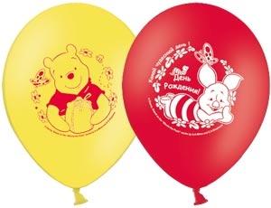Набор шариков с рисунком Disney День Рождения ВинниВоздушные шары<br>Набор шариков с рисунком Disney День Рождения Винни<br>