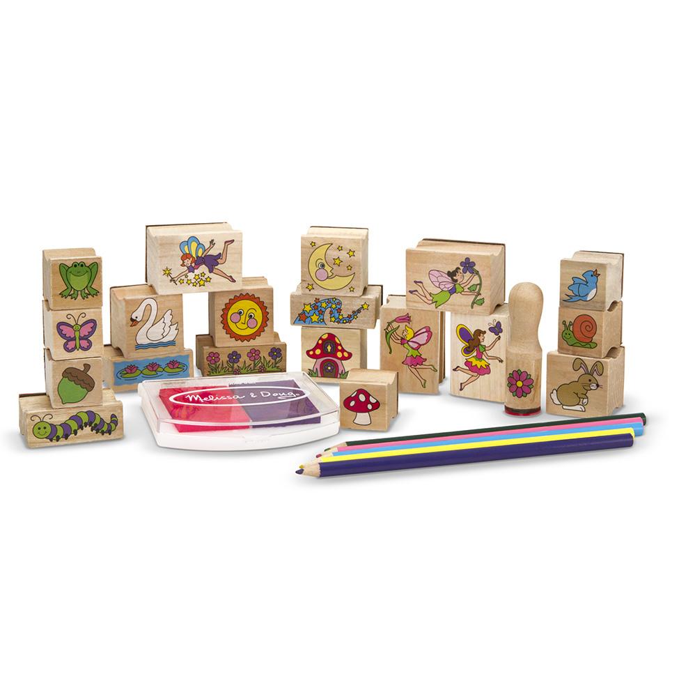 Купить Набор печатей из серии Творчество - Сад для Фей, Melissa&Doug
