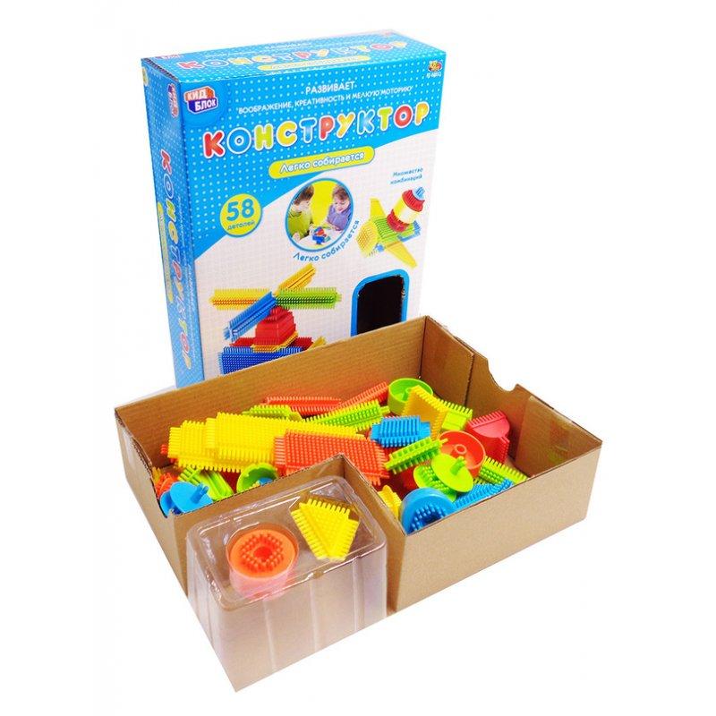 Купить Конструктор с щетинками из серии Кид Блок, 58 деталей, ABtoys