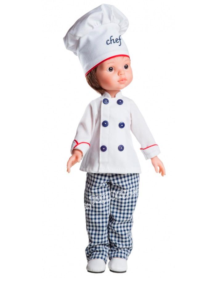 Кукла Карлос повар, 32 смИспанские куклы Paola Reina (Паола Рейна)<br>Кукла Карлос повар, 32 см<br>