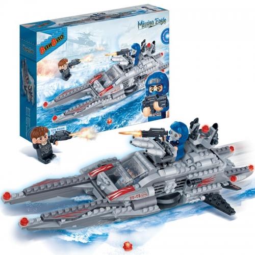 Конструктор - Подводная лодка, 275 деталейКонструкторы BANBAO<br>Конструктор - Подводная лодка, 275 деталей<br>