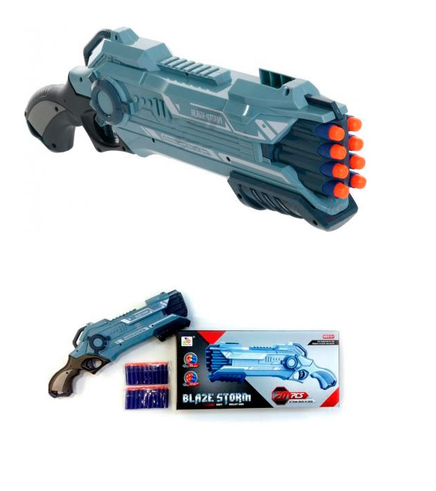 Бластер Blaze Storm с 20 мягкими снарядамиАвтоматы, пистолеты, бластеры<br>Бластер Blaze Storm с 20 мягкими снарядами<br>