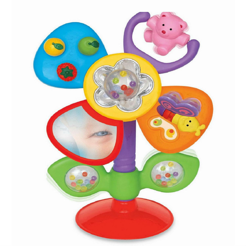 Купить Развивающая игрушка на присоске Цветок, на русском языке, Kiddieland