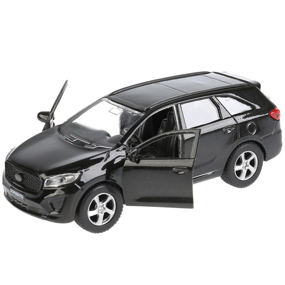 Купить Металлическая инерционная модель – KIA Sorento Prime, черный, 12 см, открывающиеся двери и багажник -WB), Технопарк