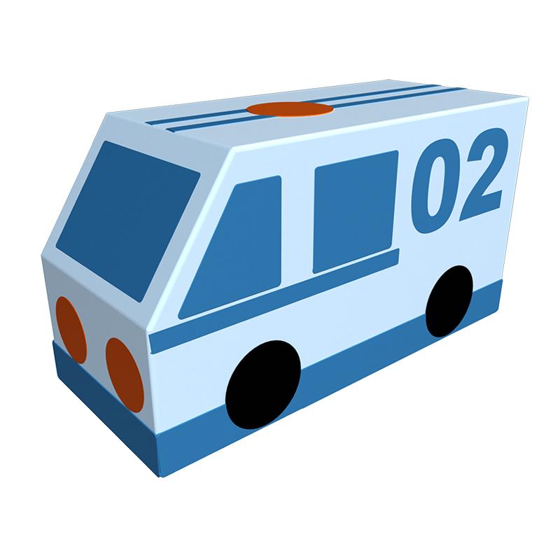 Мягкая контурная игрушка - Фургон – Полиция фото