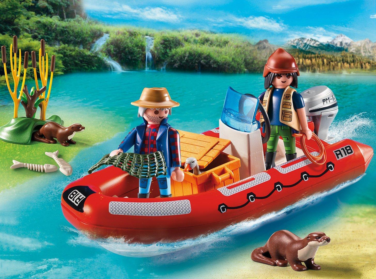 Игровой набор - В поисках приключений: Лодка с браконьерамиФерма<br>Игровой набор - В поисках приключений: Лодка с браконьерами<br>