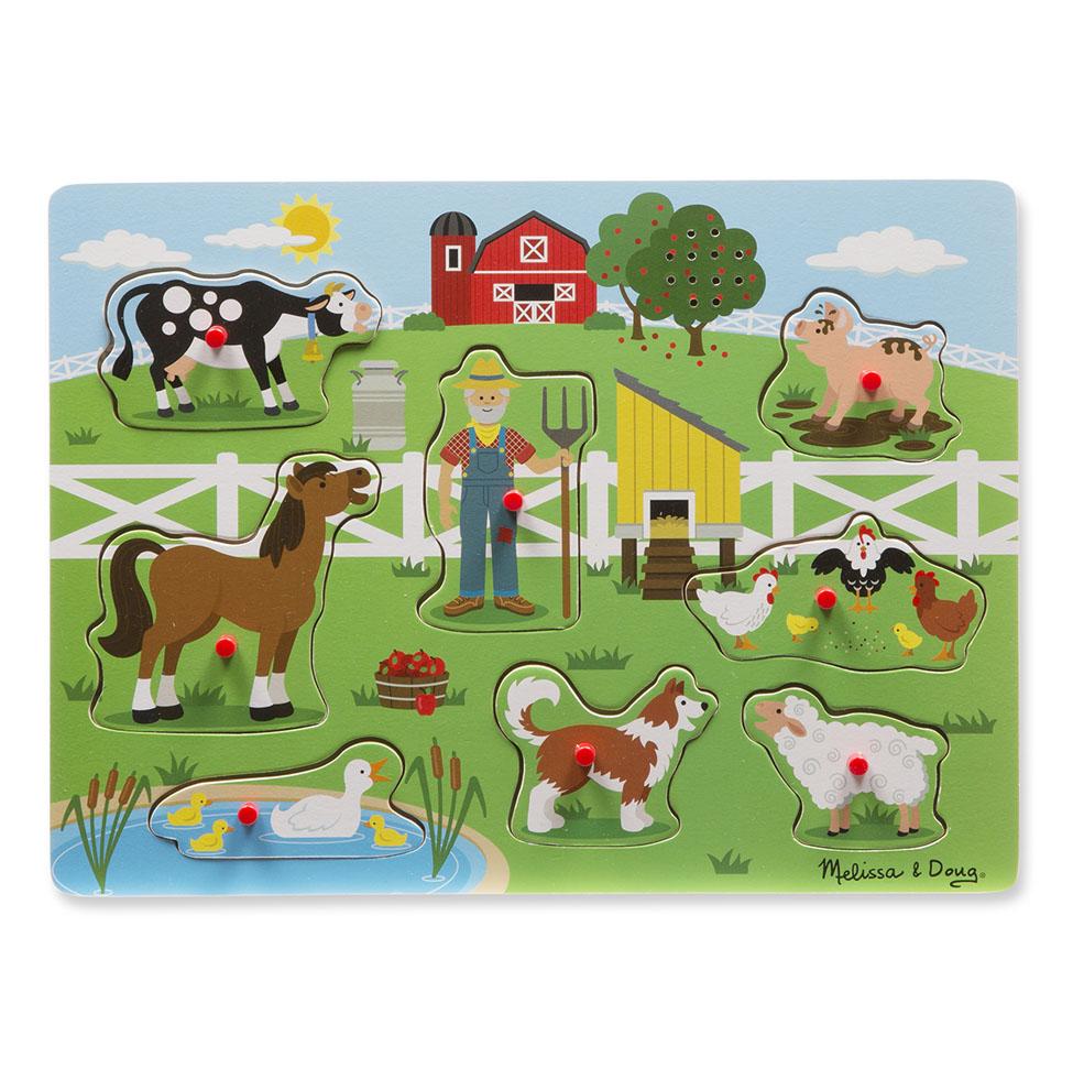 Купить Пазл со звуком - Ферма, Melissa&Doug