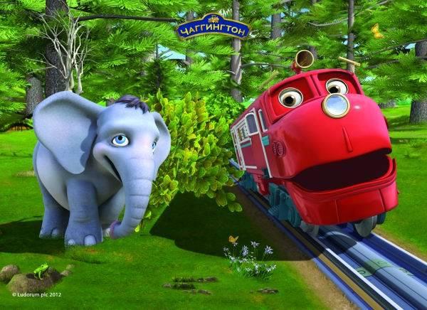 Пазл Castorland 30 деталей Уилсон и слоненокПазлы<br>Пазл Castorland 30 деталей Уилсон и слоненок<br>