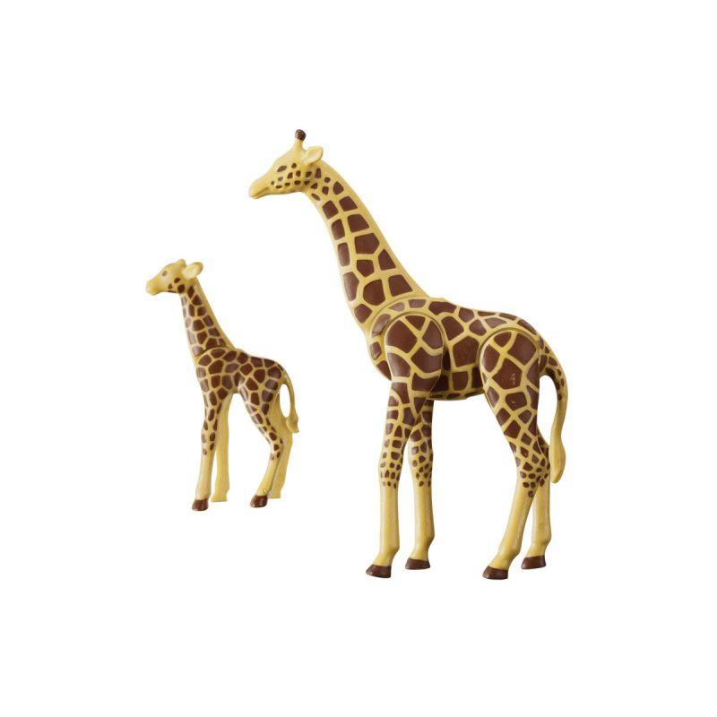 Зоопарк: Жираф со своим детенышем жирафомФерма<br>Зоопарк: Жираф со своим детенышем жирафом<br>
