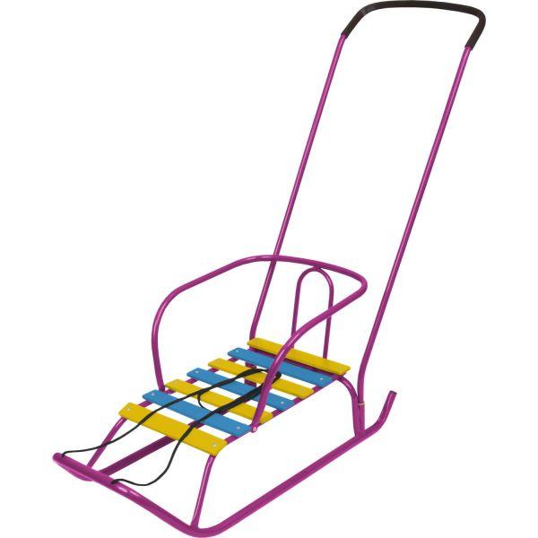 Детские санки – Ветерок 2, сиреневыеСанки и сани-коляски<br>Детские санки – Ветерок 2, сиреневые<br>