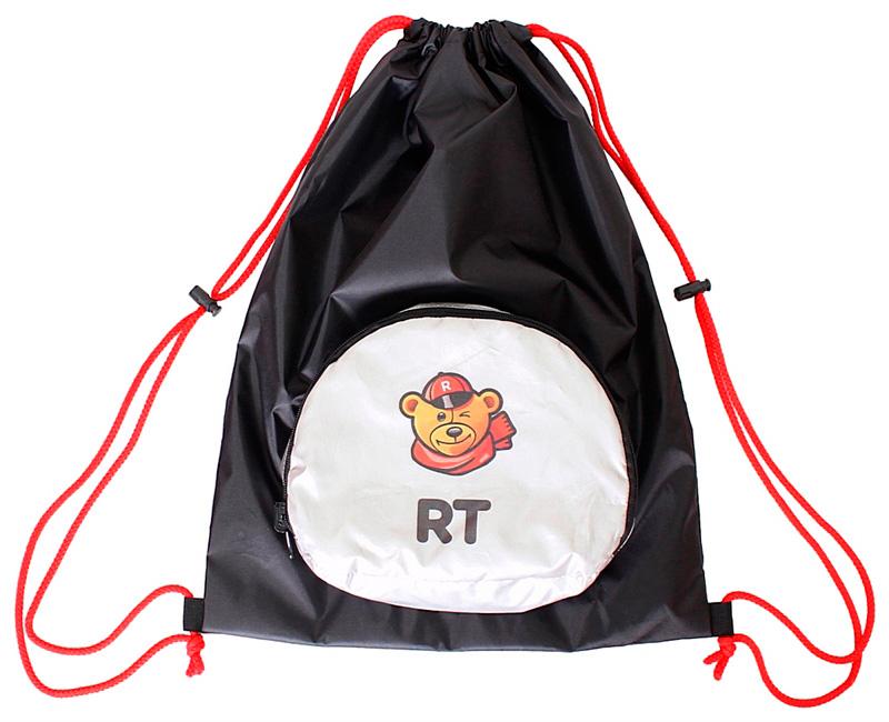 Мешок-рюкзак складной RT, на самокат и велосипед - Снежный БарсАксессуары для самокатов<br>Мешок-рюкзак складной RT, на самокат и велосипед - Снежный Барс<br>