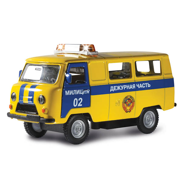 Инерционная машина УАЗ-452 Дежурная часть, свет, звукПолицейские машины<br>Инерционная машина УАЗ-452 Дежурная часть, свет, звук<br>