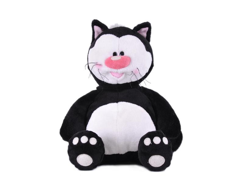 Кот КОТЯ черный сидячий, 23см - Животные, артикул: 19438