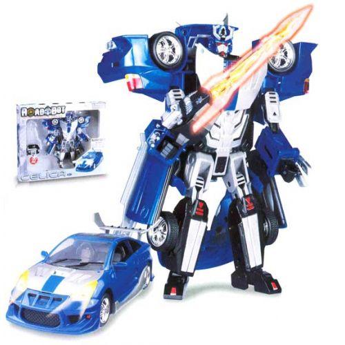 Трансформер «Toyota Celica»Игрушки трансформеры<br>Робот-трансформер Toyota Celica сделан в масштабе 1:32 и продолжает серию захватывающих игрушек «ROADBOT». Игрушка интересна многим детям тем, что ею можно играть как гоночным автомобилем...<br>