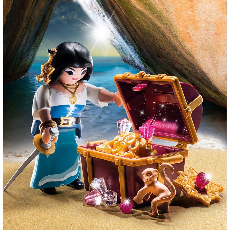 Купить Игровой набор – Экстра-набор: Пират с сокровищами, Playmobil