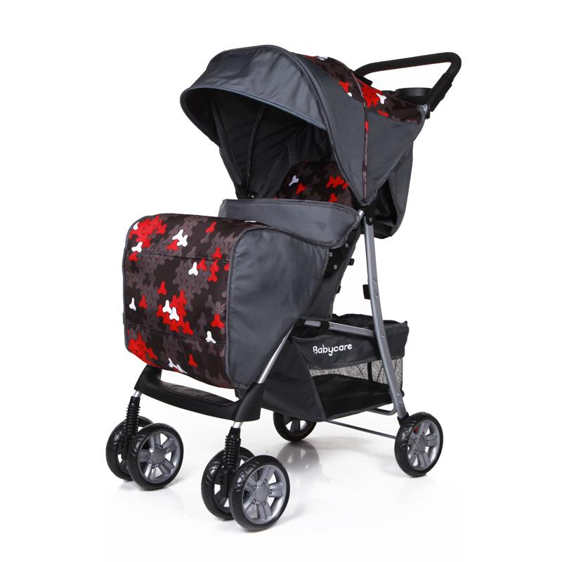 Коляска прогулочная Shopper, сераяДетские коляски Capella Jetem, Baby Care<br>Коляска прогулочная Shopper, серая<br>