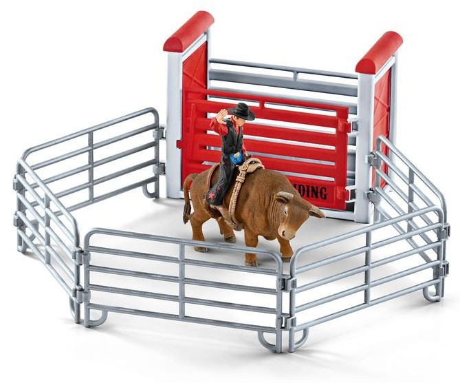 Купить Игровой набор - Родео с ковбоем, быком, аксессуарами, Schleich