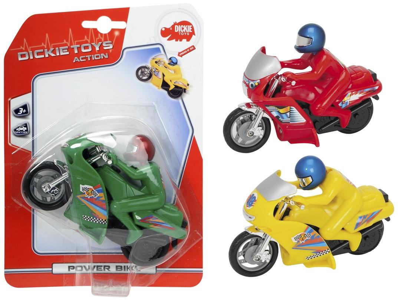 Купить Мотоцикл фрикционный Power Bike, 14см, Dickie Toys