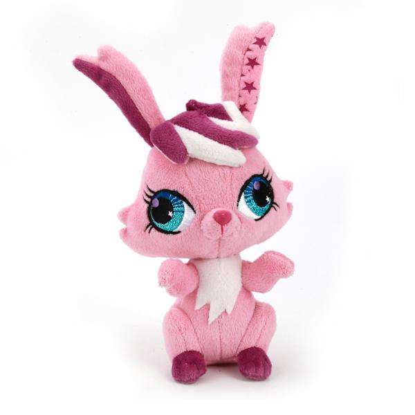Мягкая игрушка Кролик из мультфильма «Littlest Pet Shop», 16 см., озвученная с русским чипом - Littlest Pet Shop – Маленький зоомагазин, артикул: 139197
